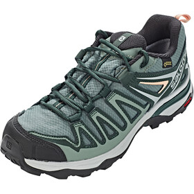 Salomon W's X Ultra 3 Prime GTX Shoes Balsam Green/Darkest Spruce/Coral Almond